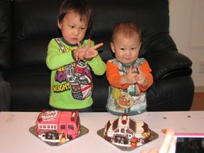 消防車 パトカー 乗物 立体 ケーキ