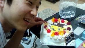 阪神タイガースのキャラクターケーキ