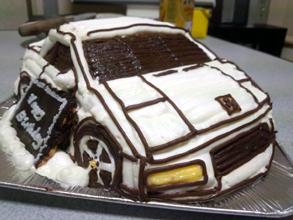 フェラーリF355の立体ケーキ