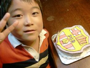 FCBの立体ケーキ