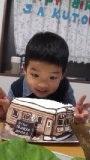 阪急電車の立体ケーキ