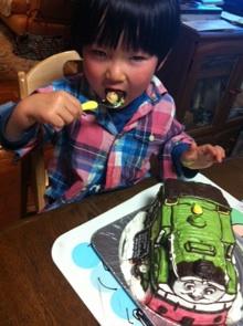 きかんしゃトーマス、オリバーの立体ケーキ