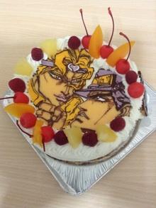 ジョジョのイラストケーキ
