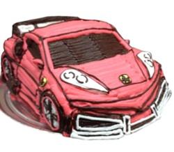 赤い車の立体ケーキ