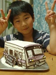 電車、小田急電鉄4000形の立体ケーキ