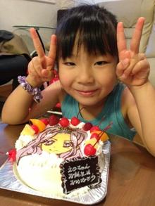 神崎美月ちゃんのキャラクターケーキ