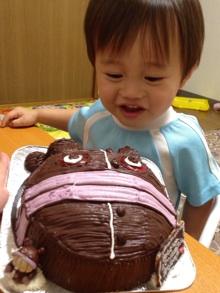 ばいきんまん、だだんだんの顔型立体ケーキ