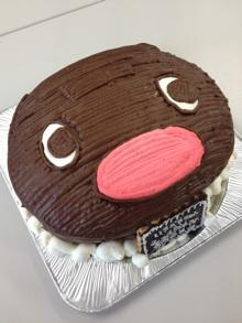 ピングーの顔型立体ケーキ
