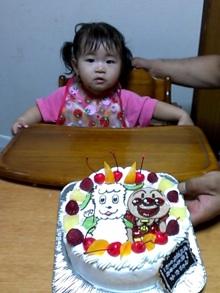 アンパンマン、わんわんのケーキ