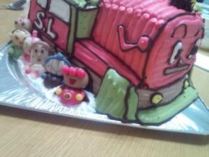 SLマンの立体ケーキ