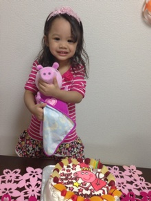 Peppa Pig、キャラクターケーキ