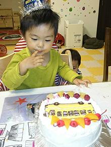 ピンポンバスのケーキ