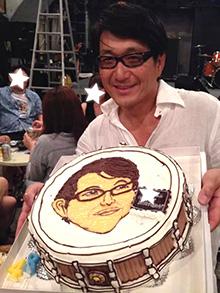 スネアドラムの立体ケーキ