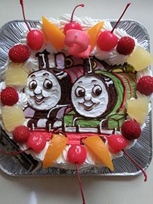 きかんしゃトーマスのケーキ