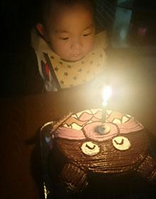 バイキンマンの顔型 立体ケーキ