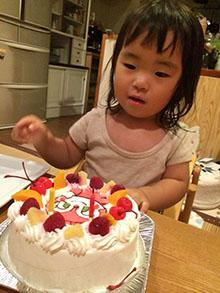 ドキンちゃんのキャラクターケーキ