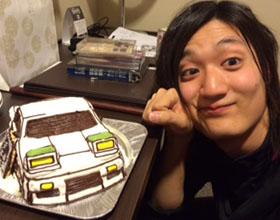 日産180sx、車の立体ケーキ