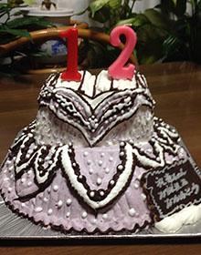 バレエのチュチュの立体ケーキ
