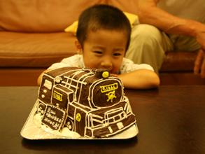 SL、蒸気機関車の立体ケーキ