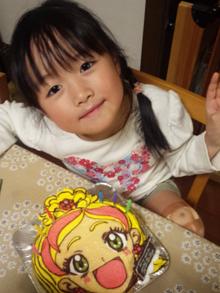 キャラクターの顔型立体ケーキ