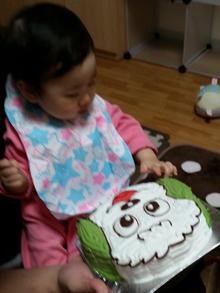 ワンワンの顔型 立体ケーキ
