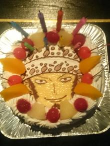 ロー、キャラクターケーキ