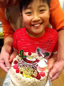 キャラクターのイラスト、クリスマスケーキ