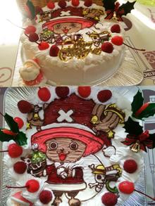 チョッパー、サンタのクリスマスケーキ