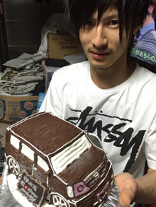 ホンダ車の立体ケーキ