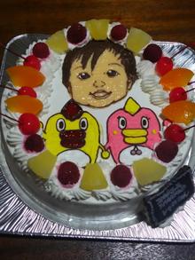 そらジロー、ぽつリン、似顔絵ケーキ