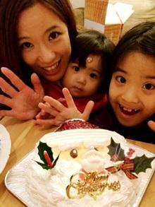 サンタの顔型 立体ケーキ