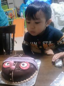 バイキンマン、ロボの顔型 立体ケーキ
