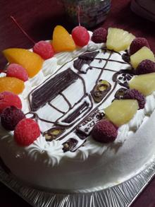 車のイラストケーキ