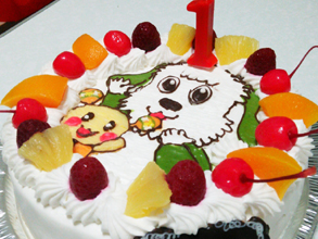わんわん、うーたんのケーキ