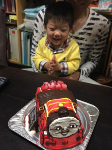 ジェームス(きかんしゃトーマス)の立体ケーキ