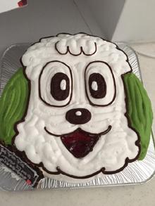 わんわんの顔型 立体ケーキ