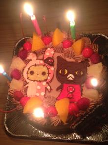 キャラクター2体ケーキ、お友達のお誕生日