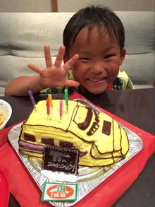 新幹線、ドクターイエローの立体ケーキ