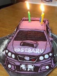 スバル、インプレッサの立体ケーキ