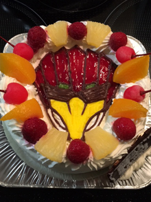 ジュウオウジャー、イーグルのキャラクターケーキ