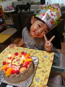 ミニーのキャラクターケーキ