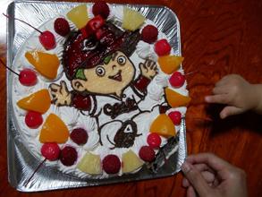 カープ坊やのキャラクターケーキ