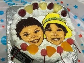 ふたりの似顔絵ケーキ