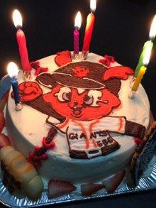 ジャイアンツのキャラクターケーキ