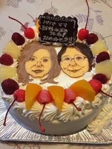 二人の似顔絵ケーキ