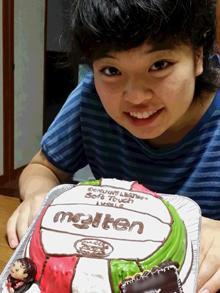 ボールの立体ケーキ