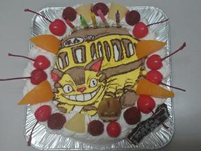 ネコバスのケーキ