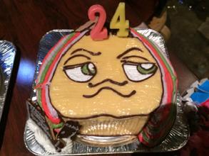 顔型立体ケーキ