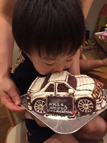 20ソアラの車の立体ケーキ