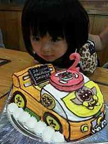 アンパンマンの乗り物 立体ケーキ